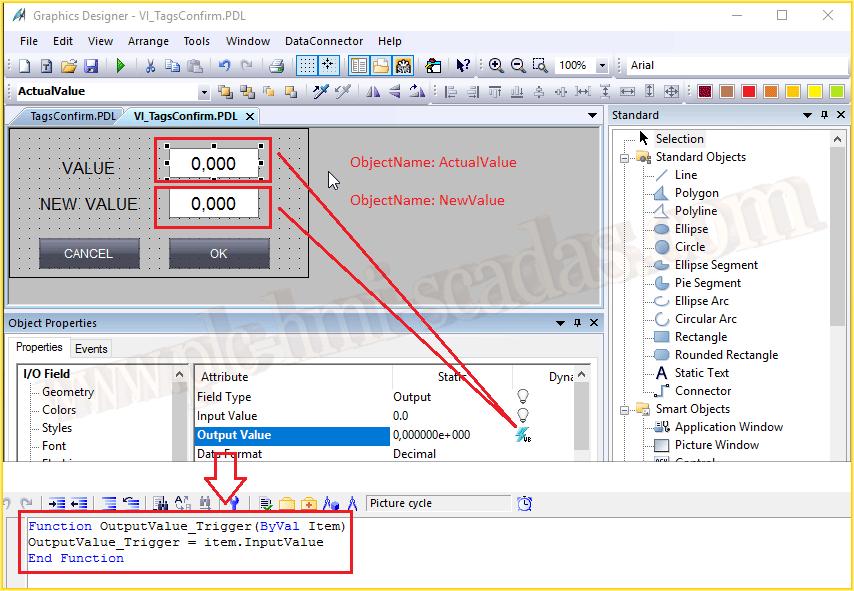 WinCC Confirmar Cambio de Variable