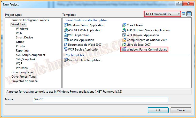 WinCC Crear Controles  Net
