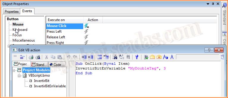 WinCC VBScript InvertBitInTag